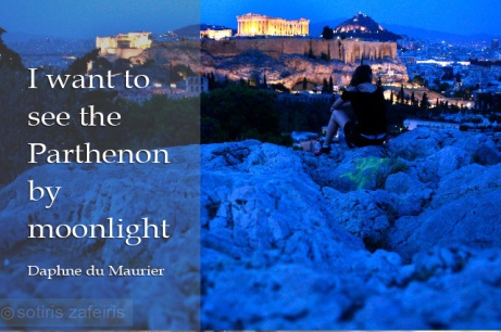Parthenon night view