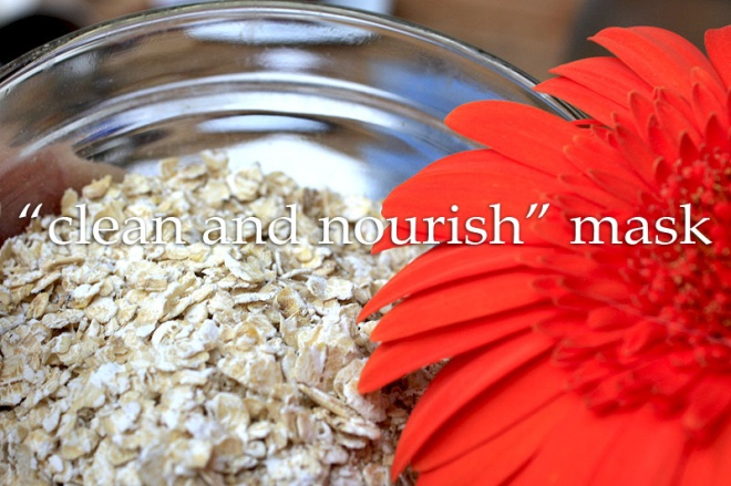 face mask with oats, honey and yogurt